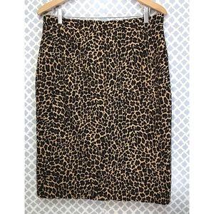J.Crew animal print skirt Size 12